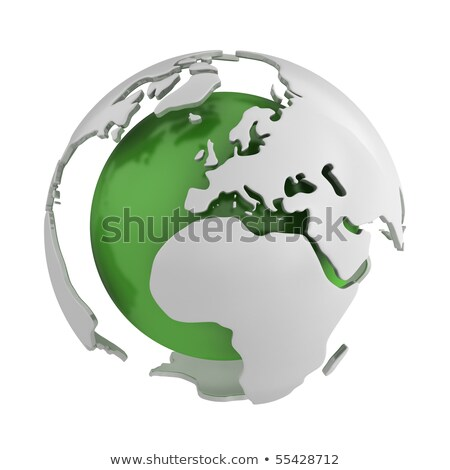 Stock photo: Abstract Green Globe Europe