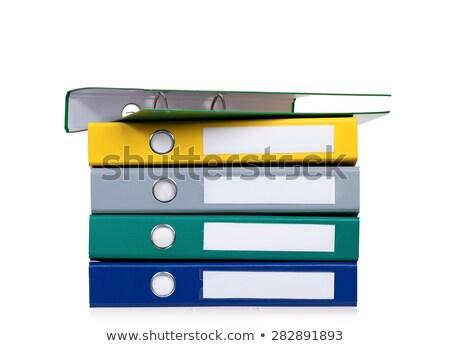 tres · documento · carpetas · colorido · rojo · amarillo - foto stock © tetkoren
