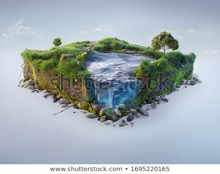 River and a cliff Stock photo © remik44992