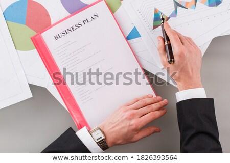 Biuro folderze napis pulpit działalności Zdjęcia stock © tashatuvango