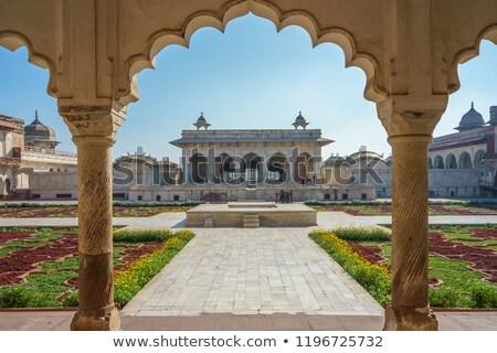 Fort Indië hemel bloem groep wolk Stockfoto © imagedb