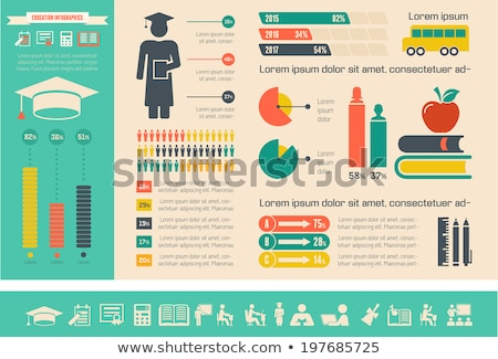 Oktatás infografika tábla fehér diák fekete Stock fotó © netkov1