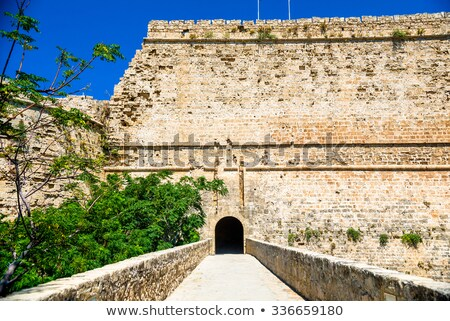 Kapu híd kastély Ciprus víz kék Stock fotó © Kirill_M