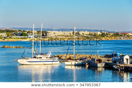 old moored fishing boats in a paphos harbour cyprus stock photo © kirill_m