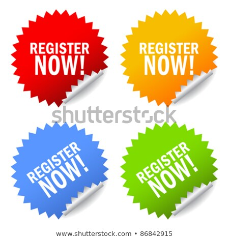 Register Now Yellow Vector Icon Button Stock photo © rizwanali3d