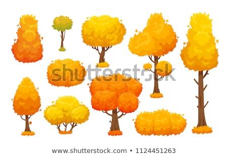 Сток-фото: стилизованный · осень · дерево · логотип · лента · jpg