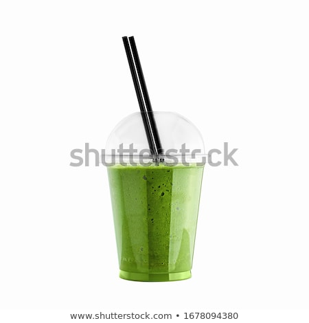 Verde plástico isolado branco beber Foto stock © tetkoren
