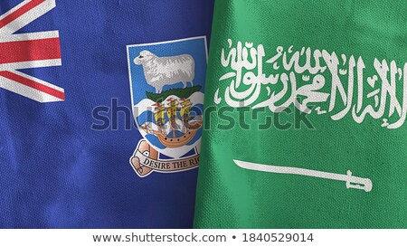 Saudi Arabia and Falkland Islands Flags Stock photo © Istanbul2009
