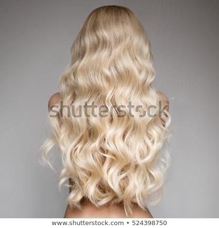 Lány hosszú szőke haj profil gyönyörű nő Stock fotó © svetography