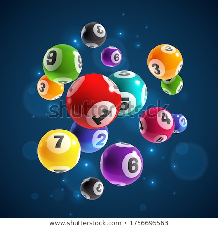 Lottó szett számok textúra sport asztal Stock fotó © frescomovie
