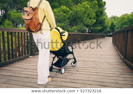 mother with baby on yellow bridge stock photo © paha_l