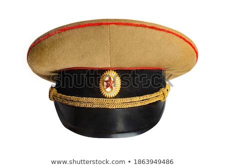 Zsrr cap świat wojny radziecki oficer Zdjęcia stock © cosma