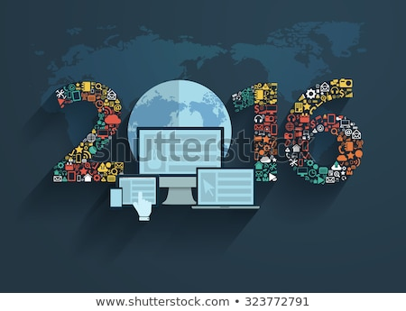 2016 Concept on Laptop Screen. Stock photo © tashatuvango