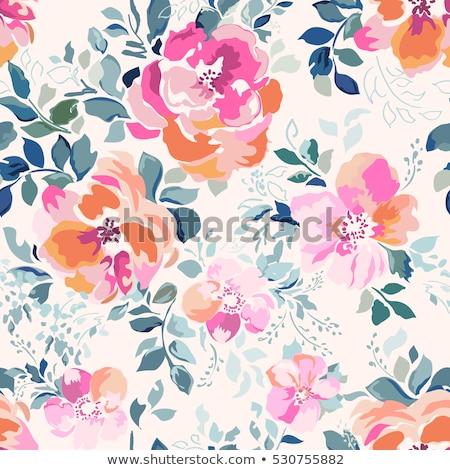 seamless pattern with dahlias Stock photo © Nearbirds