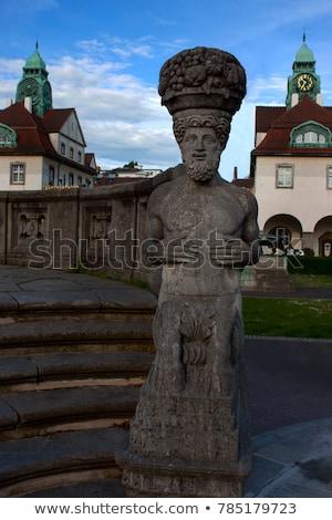 Art noveau estátua famoso ruim feminino edifício Foto stock © meinzahn