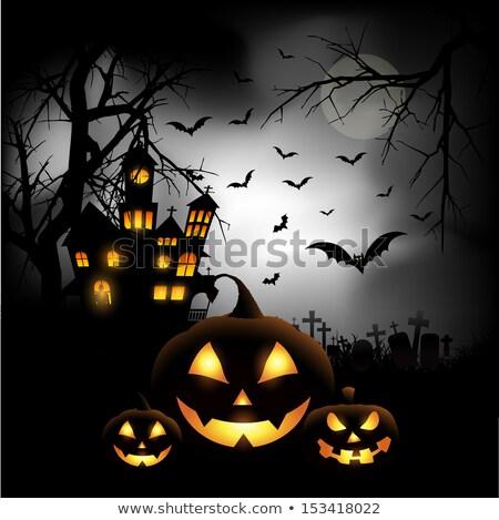 Haunted house for Halloween. EPS 10 Stock photo © beholdereye