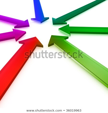 Convergent Colorful Arrows Stock photo © make