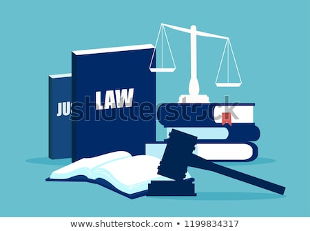 törvény · igazság · ikon · illusztráció · terv · ügyvéd - stock fotó © robuart