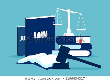 tribunal · icône · design · justice · droit · juridiques - photo stock © robuart