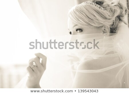 Stock photo: Beautiful bride in her white dress