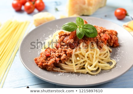 Spaghetti with minced meat and cheese stock photo © Digifoodstock