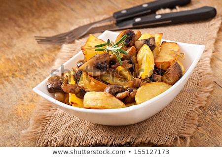 весны · Салат · грибы · продовольствие · зеленый · мяса - Сток-фото © digifoodstock