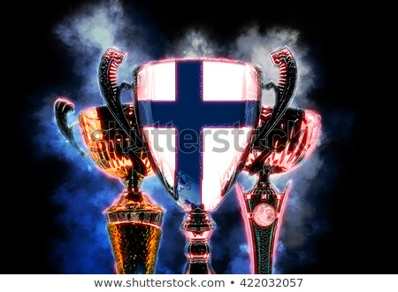 Trophy cup textured with flag of Finland. Digital illustration Stock photo © Kirill_M