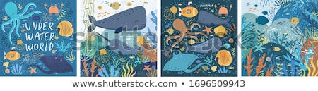 Underwater landscape banners set, vector illustration Stock photo © carodi