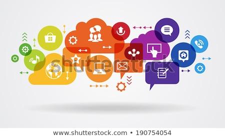 Vektor absztrakt kommunikáció illusztráció sötét verzió Stock fotó © orson