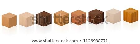 Rot Holz Würfel Kind Entwicklung weiß Stock foto © saharosa