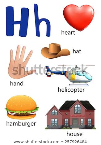 Lettre h hamburger illustration fond art éducation Photo stock © bluering