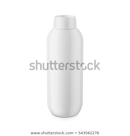 Shampoo, Gel Or Lotion White Plastic Bottle With Lid  Stock photo © ozaiachin