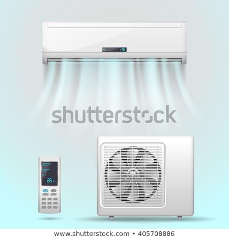 ar · condicionado · painel · de · controle · parede · branco · quarto · de · hotel · útil - foto stock © tarczas