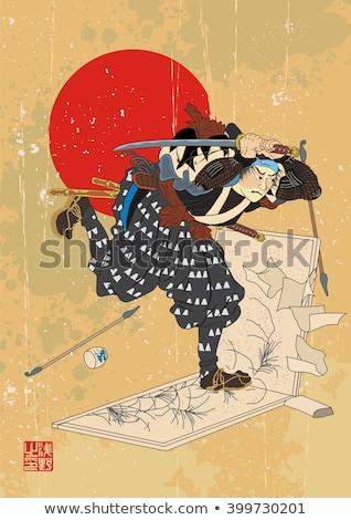 Antigo mão samurai quadro Foto stock © Romasan