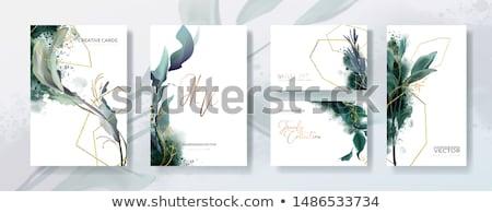 Vízfesték kártya sablon kéz festett víz Stock fotó © pakete