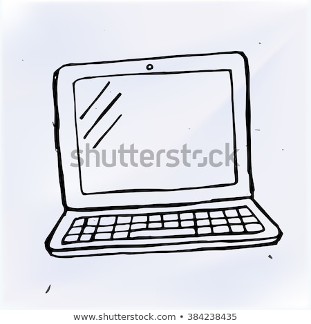 Doodle Laptop Icon Stock photo © pakete