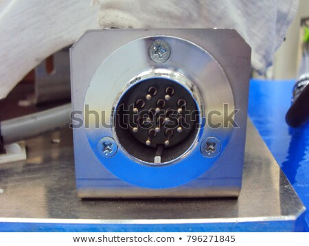 Old round socket on a pole Stock photo © zeffss