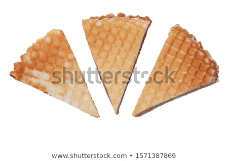 Ventillátor ostya kekszek desszert dekoráció édes Stock fotó © Digifoodstock