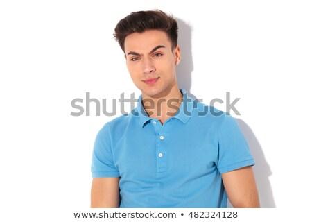 Retrato grave hombre polo mirando cámara Foto stock © feedough