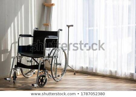 松葉杖 実例 金属 サポート 図面 車いす ストックフォト © bluering