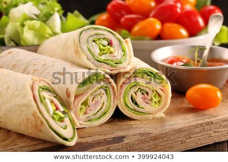 plantaardige · sandwich · voedsel · diner · tomaat - stockfoto © digifoodstock