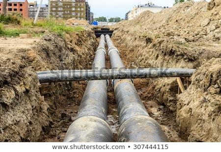 обслуживание промышленных Трубы отопления воды транспорт Сток-фото © stevanovicigor