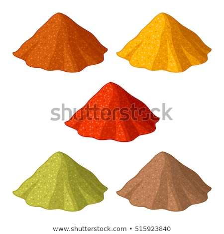Curry powder, paprika and ground cinnamon Stock photo © Digifoodstock