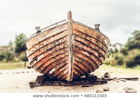 Abandoned old wooden boat  Stock photo © ankarb