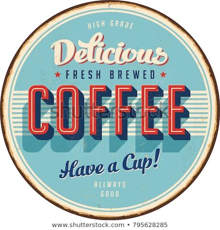 Bağbozumu kahve imzalamak logo örnek yalıtılmış Stok fotoğraf © illustrart