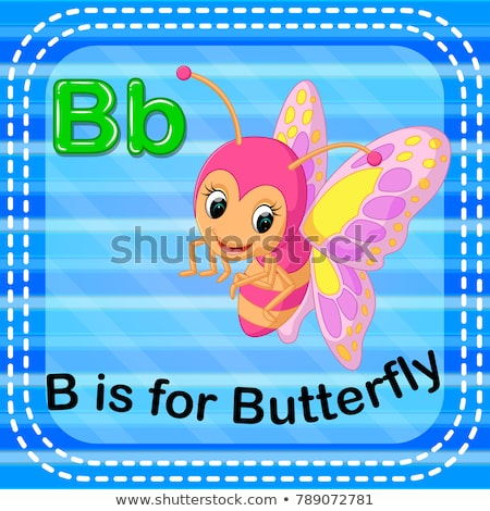 A letter B for butterfly Stock photo © bluering
