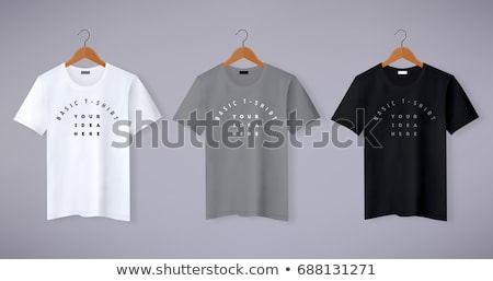 Front of clean grey T-Shirts (Polo) Stock photo © kayros