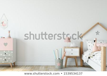 девочек спальня два красивой посмотреть Сток-фото © ssuaphoto