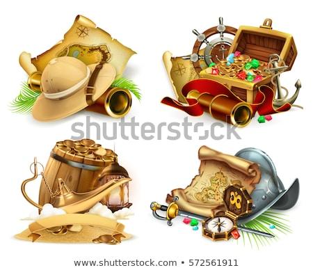 illustration of treasure hunt Stock photo © adrenalina