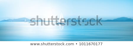 Sailboat in the sea. Summer season nature background Stock photo © ankarb